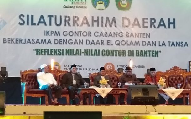 The Family Association of Gontor Branch Banten Held a Regional Brotherly Meeting and a Symposium on the Values of Gontor