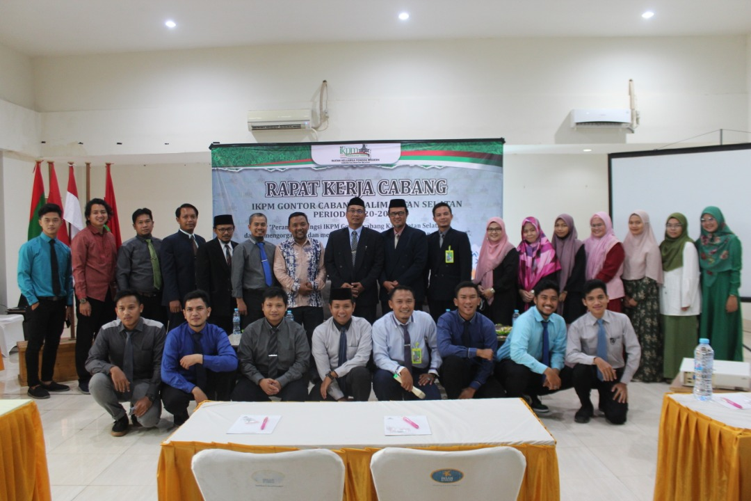 Adakan Rakercab, IKPM Gontor Cabang Kalimantan Selatan Maksimalkan Peran Perekat Umat Alumni Gontor