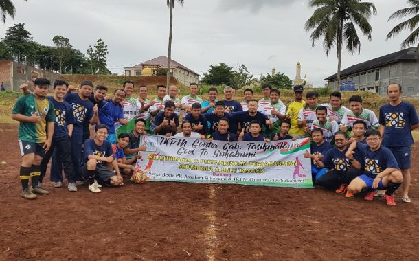 Pererat Silaturrahim, IKPM Tasikmalaya Tanding Sepakbola dengan IKPM Sukabumi