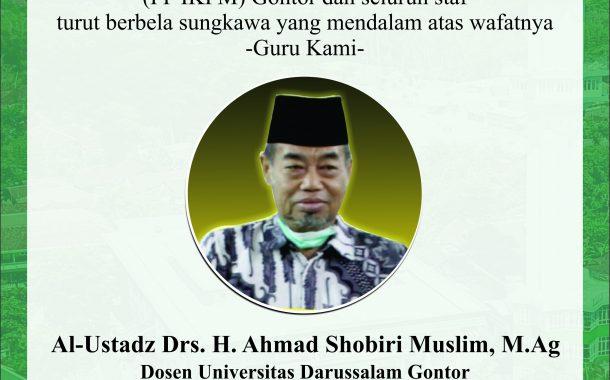 PP IKPM Ucapkan Takziyah atas Meninggalnya Ustadz Drs. H. Ahmad Shobiri Muslim, M.Ag