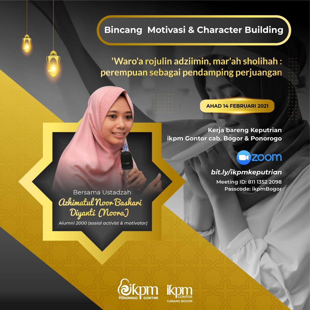 Kerja sama dengan IKPM Ponorogo, Divisi Keputrian IKPM Bogor Adakan Bincang Motivasi dan Character Building
