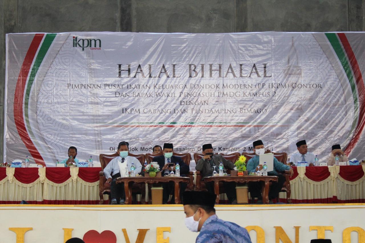 Pererat Ukhuwah Dengan Pembimbing Calon Pelajar & IKPM Cabang, PP IKPM Gontor Adakan Halal Bi Halal di Auditorium PMDG Kampus 2