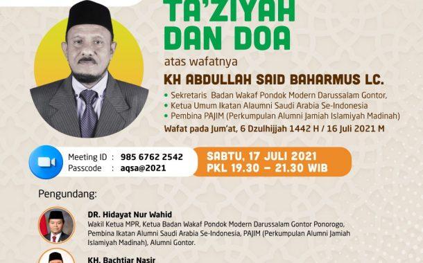 Acara Ta'ziyah dan Doa atas wafatnya KH. Abdullah Sa'id Baharmus