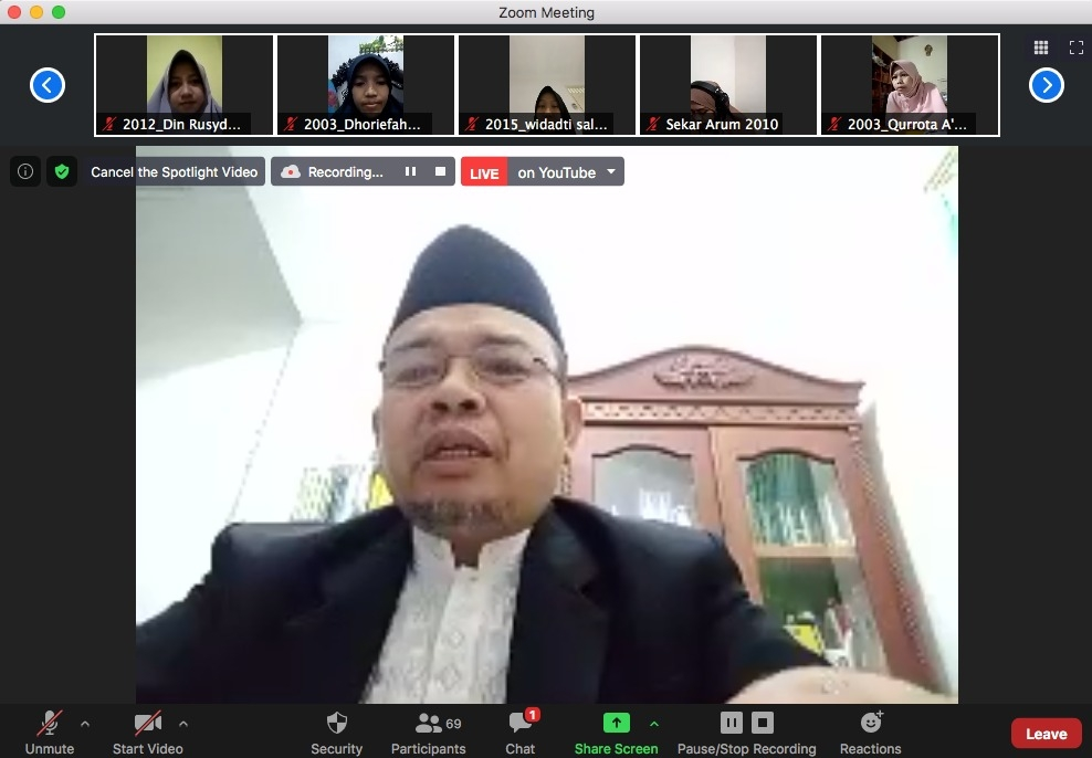 Bidang Keputrian PP IKPM Gontor Adakan Rapat Koordinasi Lintas Marhalah Gontor Putri, Mempersiapkan Reuni Virtual Akbar