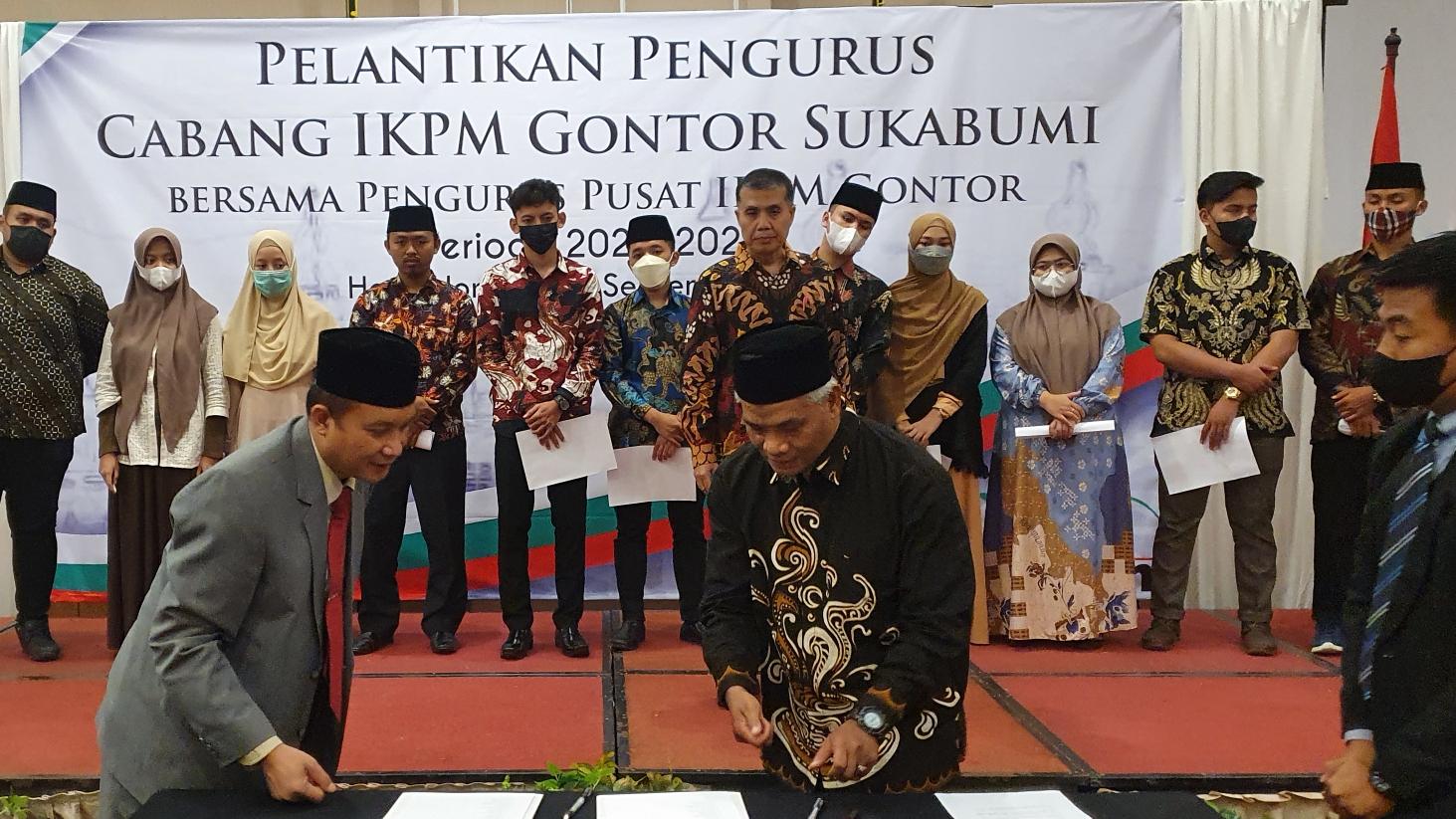 PP IKPM Gontor Lantik Pengurus Baru IKPM Cabang Sukabumi