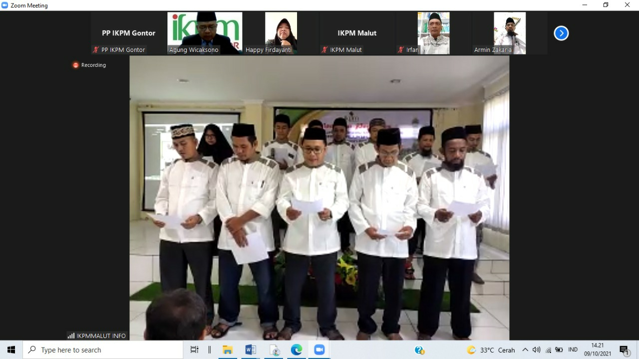 Pelantikan Pengurus IKPM Cabang Maluku Utara Melalui Via Online